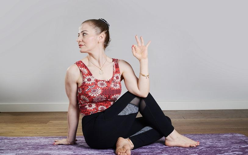 Ardha Matsyendrasana or Half Spinal Twist